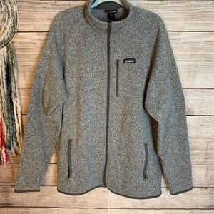 Patagonia Zip Up Jacket Gray Fleece Lined